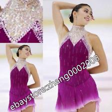 Ice skating dress.Purple Sleeveless Figure Skating Dress/Baton Twirling Costume