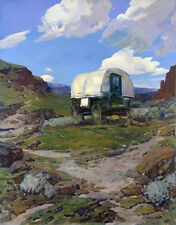 Sheep Wagon  by Frank Tenney Johnson   Giclee Canvas Print Repro