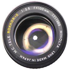 Minolta MC Tele Rokkor-X 100mm f2.5  #1711989