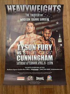 "Tyson Fury (US Debut) vs Steve ""USS"" Cunningham Official On-Site Poster, 2013"