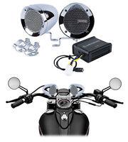 Memphis Audio Motorcycle Audio System Chrome Handlebar Speakers For Honda Shadow