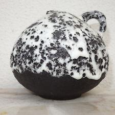 Bauchige Vase mit weisser white Fat Lava ES Keramik Emons & Söhne 45 / 10
