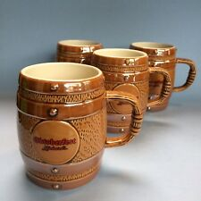 1 Of 4 Vintage Collectible Rickard's Keg Stoneware Pottery Beer Steins Mugs