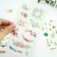 6Sheets Natural Diary Stationery DIY Scrapbooking Adhesive Stickers T8Y4 S2 P2Z6