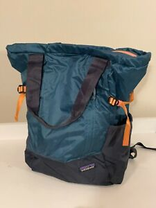 Patagonia Lightweight Travel Tote Pack teal/blue EUC