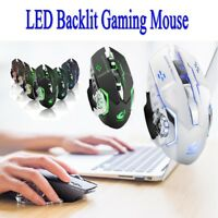Optical Rechargeable Silent X8 WirelessUSB Ergonomic LED Backlit Gaming Mouse