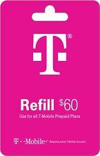 T-Mobile  Prepaid $60 Refill Top-Up Prepaid Card, Fast service!