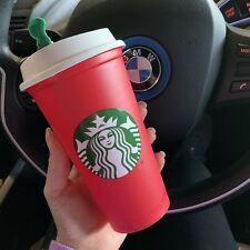 New Starbucks 2018 Holiday Limited Edition Red Christmas Plastic Cup Reusable