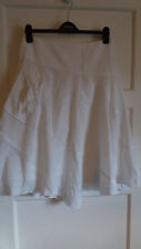 SH2) Gorgeous white boho/hippy skirt w pocket @ front size 12 Moda George