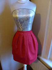 Cute little red flared skirt from Benetton size UK 6
