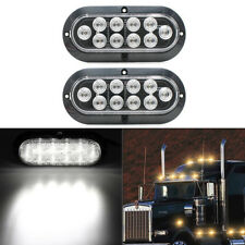 "2x 7.5"" 10LED Surface Mount Oval Bright White Truck Trailer Backup Reverse Light"