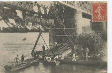 CARTE POSTALE / ANGERS / CATASTOPHE DES PONTS DE CE 1907 / MECANICIENS