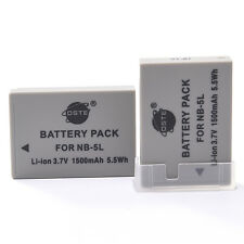 DSTE 2PCS NB-5L NB5L Battery for Canon SX200 SD700 IXUS 990 IS IXY Digital 1000