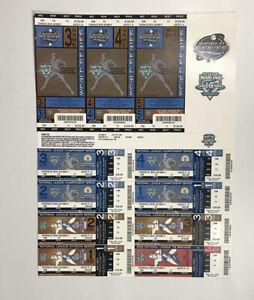 2003 Florida Marlins World Series and Playoffs Uncut Ticket Sheet