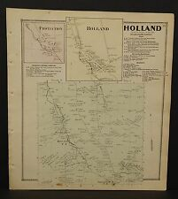 New York Erie County Map Holland Township  c1866  W12#02
