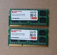 Kit barrette RAM DDR3 KOMPUTERBAY 8 GO 8GB (2x4GB) 4GB PC3-8500S DDR3 1066MHz