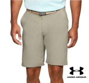 "New UNDER ARMOUR UA Tech Mens Golf Shorts KHAKI Brown 4 Pockets Sizes 30"" 40"""