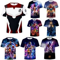 The Avengers 4 Endgame T-Shirt Superhero 3D Short Sleeve Cosplay T Shirt Tee Top