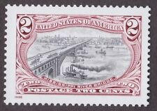 MISSISSIPPI RIVER BRIDGE 1998 RE-ISSUE of 1898 POSTAGE STAMP DESIGNS SHIPS BOATS