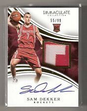 Sam Dekker 15/16 Immaculate Rookie RC Patch Auto #123 SN #55/99
