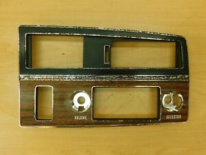 RADIO DASH BEZEL WITH AC/CRUISE/SPEED ALERT 1971 1972 BUICK FULL SIZE 71BE1-1R1