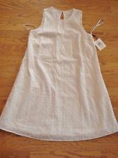 NWT CALVIN KLEIN 4 White Cotton Eyelet Sleeveless Swing Dress $99