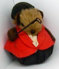 Adorable Vintage Equestrian Miniature Mohair Toy Hedgehog