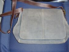 Coach Blue Suede Handbag with Strap