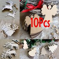 Wooden Hollow-out Christmas Hanging Pendants Home Decor Furnishing Articles