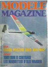 MODELE MAG N°400 le BD8 / LE GOTINGEN 285 / LE CENTRAGE / DARDO DE MODELHOB