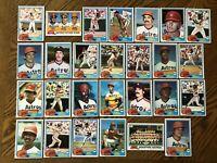1981 HOUSTON ASTROS Topps COMPLETE Baseball Team Set 27 Cards RYAN CRUZ MORGAN