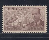 ESPAÑA (1939) NUEVO SIN FIJASELLOS MNH - EDIFIL 883 (50 cts)JUAN DE CIERVA LOTE3
