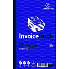 Challenge Duplicate Invoice Single VAT Column Book 100 Sets 210 x 130mm (Pack of