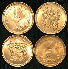 Rhodesia Half 1/2 Cent 1970-1977 UNC KM#9 (T72)