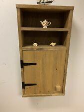 Cottage style reclaimed Wood Rustic SHELF WALL Cupboard handmade Unit Cabinet