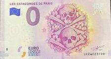 BILLET 0  EURO LES CATACOMBES  PARIS FRANCE 2018 NUMERO DIVERS