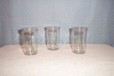 3  BALL - INCON  4 oz GLASS JAM JARS  1987 -1994