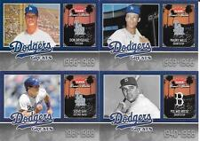 2006 GREATS OF THE GAME   DODGERS GREATS   DRYSDALE REESE SAX WILLS
