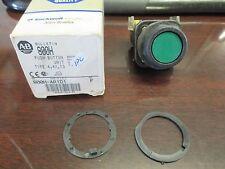 Allen Bradley Green Crap Push Button Switch Model 800H-AR1D1 Ser. F New