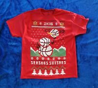 NBA 2K16 Ugly Sweater T-Shirt Size XL Video Game Launch Promo NEW!