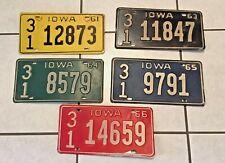Lot of 50 Iowa and Illinois License Plates, 1961 - 2005