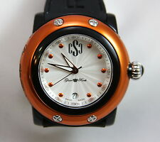 Authentic Glam Rock Women's Miami Beach Watch GRD62007 BLACK / SILVER / ORANGE