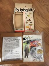 Vintage TACK-L-TYERS FLY TYING KIT NO #PJ-21 Fishing Tools Feathers Supplies!