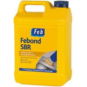 Sika FBBONDSBR5 FEBOND SBR FEBMIX - Waterproofer & Bonding Admixture 5L