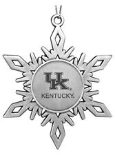 new! UK University of Kentucky Wildcats ENGRAVED PEWTER CHRISTMAS ORNAMENT