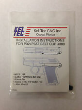 Kel-Tec P32 P3AT Belt Clip Stainless Steel Left Handed
