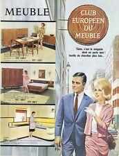 """""""CLUB EUROPEEN DU MEUBLE"""" Annonce originale entoilée ASLAN années 60  26x34cm"""