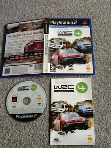 PLAYSTATION 2 GAME _WRC4 : THE OFFICIAL GAME OF FIA CHAMPIONSHIP + MANUAL