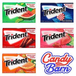 Trident Gum Sugar Free Gum American gum USA Trident chewing gum Sweets Candy Gum
