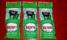 Noxzema Disposable Razors. Triple Blade. Mens/Womens 3pk (6 Razors) New & Sealed